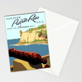 Vintage Discover Puerto Rico WPA Travel Stationery Cards
