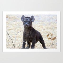 African Hyena Pup Art Print