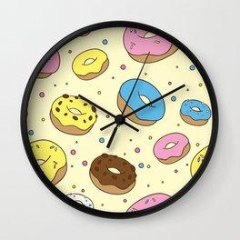 Donuts Pattern Wall Clock