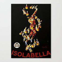 Vintage 1920's Leonetto Cappiello  IsolaBella Lithograph Advertising Wall Art Style 2 with red text Canvas Print