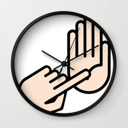 Lansing Michigan Hand Map Wall Clock