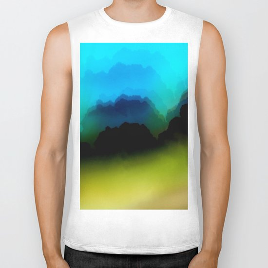 Misty Mountain View Biker Tank