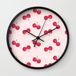 Sweet Cherries Unique Pattern Wall Clock