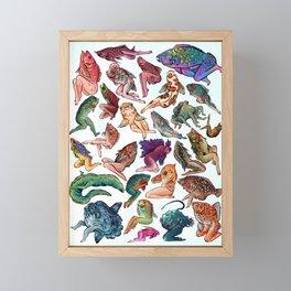 Reverse Mermaids Framed Mini Art Print