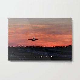 Sunset take off Metal Print