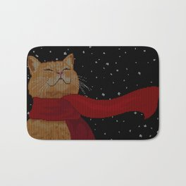 Knitted Wintercat Bath Mat