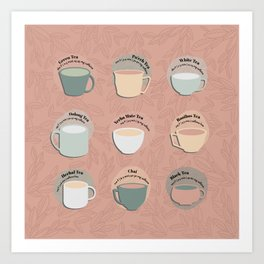Time for Tea Cups Art Print