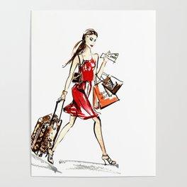 Travel Girl Poster