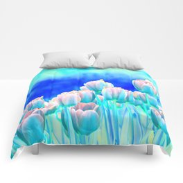 Tulips in Spring Abstract Comforters