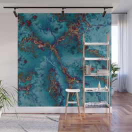 Blue fantasy marble Wall Mural