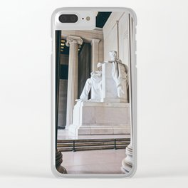 On His Marble Throne Clear iPhone Case