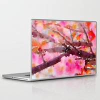 cherry blossom Laptop & iPad Skins featuring cherry blossom by her art