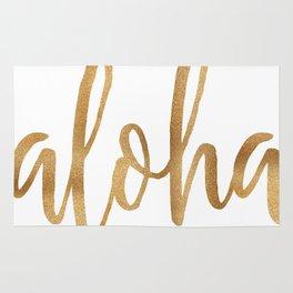 Aloha - gold and white Rug