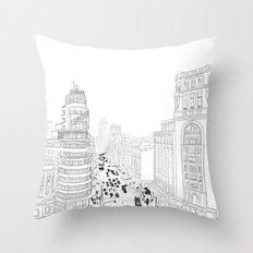 Gran Vía, Madrid Throw Pillow