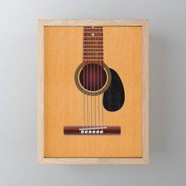Acoustic Guitar Framed Mini Art Print