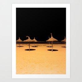 Beach at night Art Print