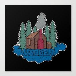 Walden - Henry David Thoreau (Coloured textured version) #society6 #decor #buyart Canvas Print