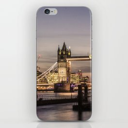 London Tower River UK Photography night ArtWork iPhone Skin