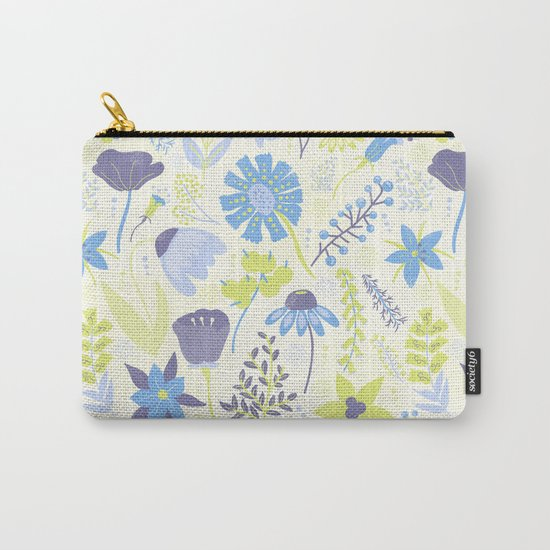 Blue and Purple Wildflowers Carry-All Pouch