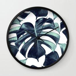 Tropical Monstera Leaves Dream #6 #tropical #decor #art #society6 Wall Clock