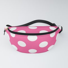 Violet-red - pink - White Polka Dots - Pois Pattern Fanny Pack