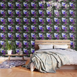 Butterfly on the Lavender Wallpaper