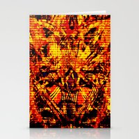 inner demons Stationery Cards featuring Demons by Jay Hixson