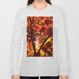 Red autumn foliage in the world of a globe Long Sleeve T-shirt