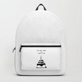 Monochrome birthday cake Backpack