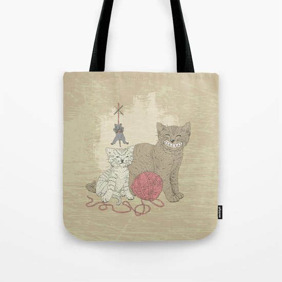 Naughty Cats Tote Bag