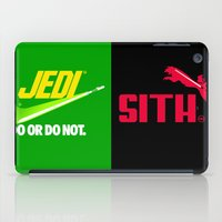 jedi iPad Cases featuring JEDI VS DART VADER by BeautyArtGalery