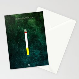 Metal Gear Solid  Minimal Videogame Poster Stationery Cards