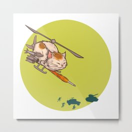 Apache Attack Cat Metal Print