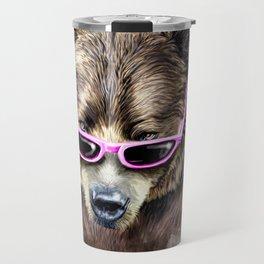 Cool shy bear Travel Mug