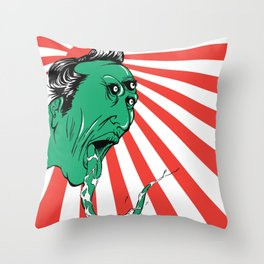 Green Yokai Throw Pillow