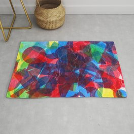 Colourful Collage Rug