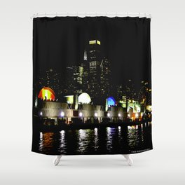 Navy Pier in Living Color: View from the Lake (Chicago Architecture Collection) Shower Curtain