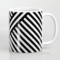 B/W two way diagonal stripes Mug