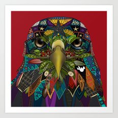 American Eagle red Art Print