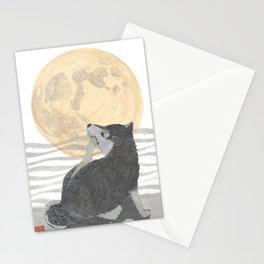 SHIBA INU, MOON, DOG Stationery Cards