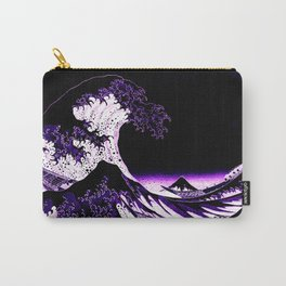 The Great Wave : Purple Carry-All Pouch