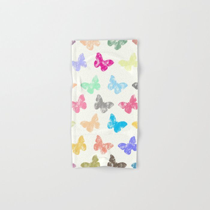 Colorful butterflies Hand & Bath Towel