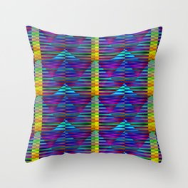 Geometrical-colorplay-pattern #2 Throw Pillow