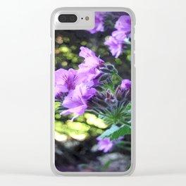 Geraniums Clear iPhone Case