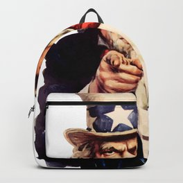 Uncle Sam Pointing Finger Backpack