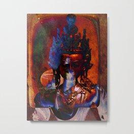 Dakini Wisdom Goddess #7 Dark Mirror Metal Print