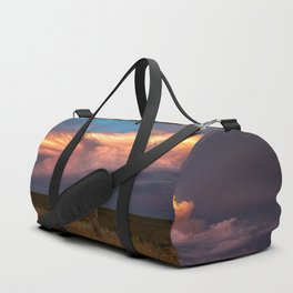 Dreamy - Storm Cloud Drenched in Sunlight at Dusk in Western Oklahoma Duffle Bag