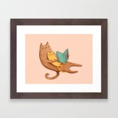 The Cat's Mother Framed Art Print