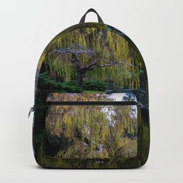 tranquil willow reflection Backpack