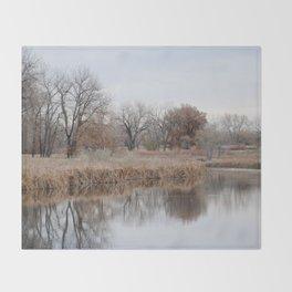 Lake_RockyMtn_03 Throw Blanket